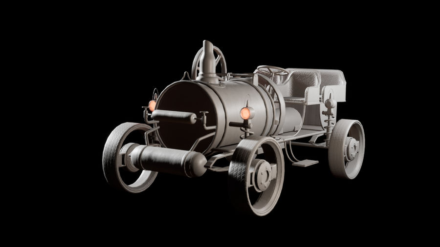 SteamPunk oude auto / auto royalty-free 3d model - Preview no. 9