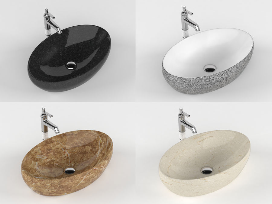 Bathroom Sink with Faucet royalty-free 3d model - Preview no. 1