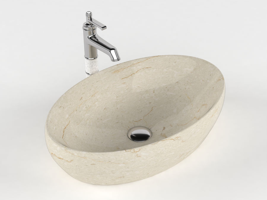 Bathroom Sink with Faucet royalty-free 3d model - Preview no. 8