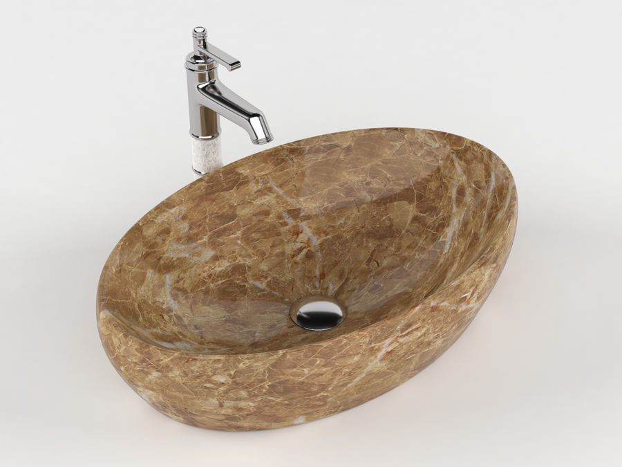 Bathroom Sink with Faucet royalty-free 3d model - Preview no. 5