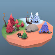 Pakiet Low Poly Tree 3d model