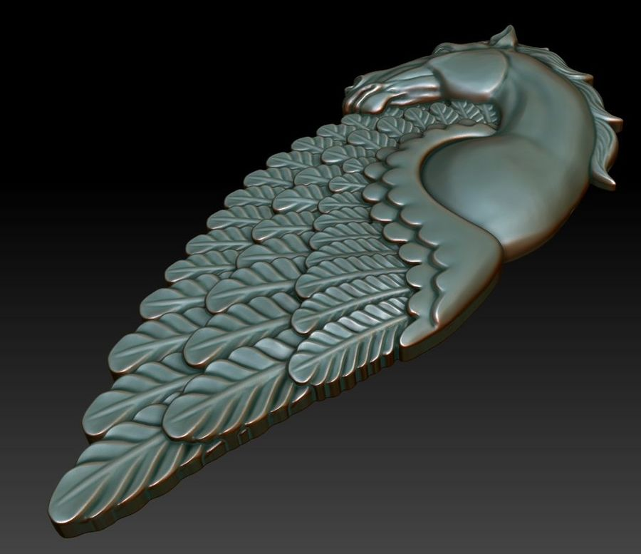 Pingente pegasus imprimível royalty-free 3d model - Preview no. 3