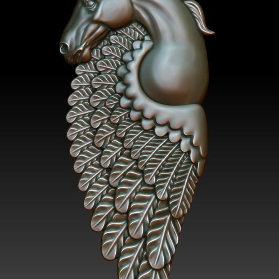 Pingente pegasus imprimível royalty-free 3d model - Preview no. 1