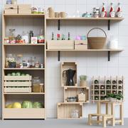 Кухонная стойка с мелочью для кухни 3 3d model