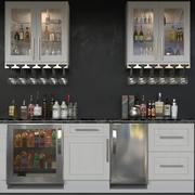 キッチンとアルコール10 3d model