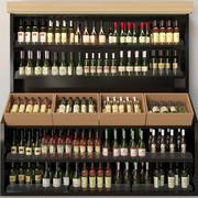 Wijn showcase 3d model
