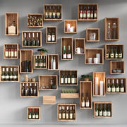 Shelves with alcohol 3d model