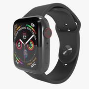Apple Watch 4系列太空灰铝制表壳,配黑色运动表带 3d model