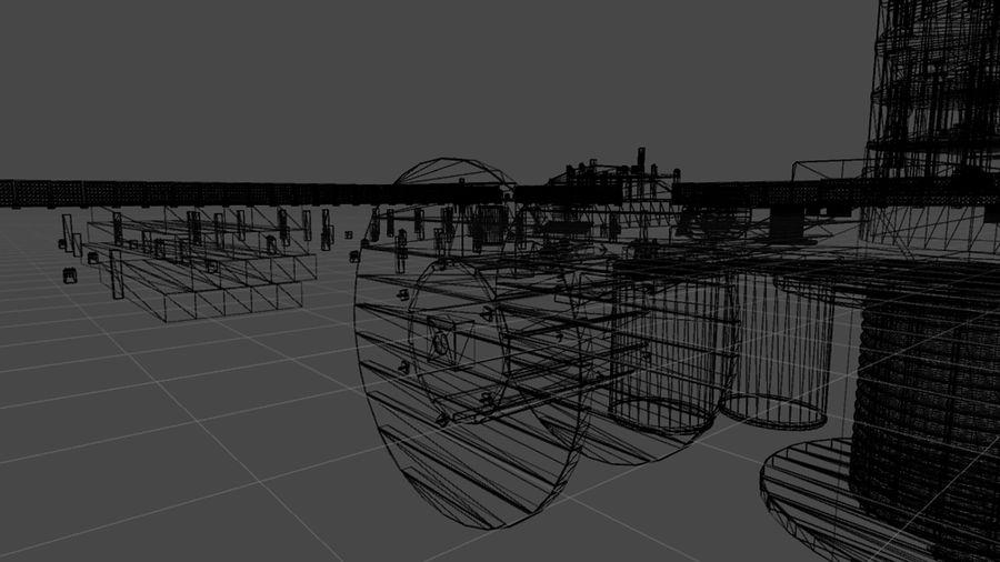 房屋建筑-模块化建筑 royalty-free 3d model - Preview no. 3