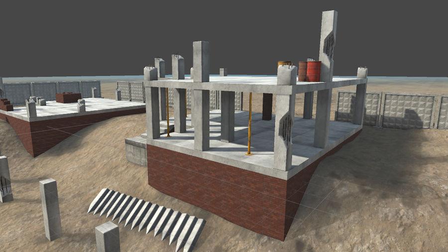 房屋建筑-模块化建筑 royalty-free 3d model - Preview no. 6