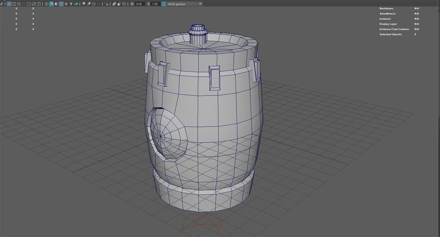 Barril misterioso royalty-free modelo 3d - Preview no. 10