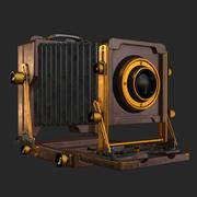 Vecchia macchina fotografica antica 3d model