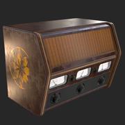 Radio antigua antigua modelo 3d