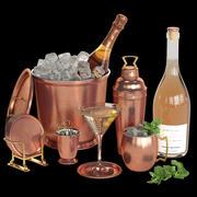 Potterybarn copper cocktail set 3d model