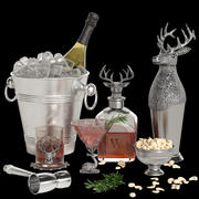 Potterybarn stag cocktail set 3d model