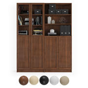 Billy / Oxberg Bookcase with panel/glass doors. Combination-2 3d model