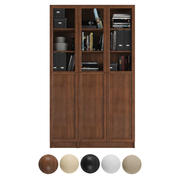 Billy / Oxberg Bookcase with panel/glass doors. Combination-7 3d model