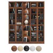 Billy / Oxberg Bookcase with panel/glass doors. Combination-5 3d model