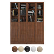 Ikea Billy / Oxberg Bookcase with panel/glass doors. Combination-1 3d model