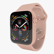 Apple Watch Series 4金色铝制表壳,配粉砂运动表带 3d model