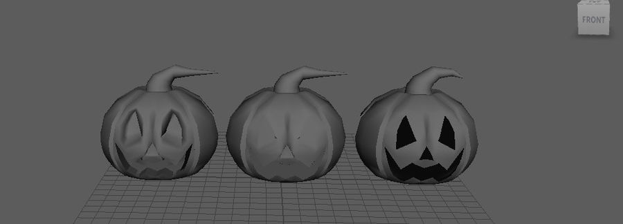 Pumpkin Haloween on CULTZONE GAMES royalty-free 3d model - Preview no. 1