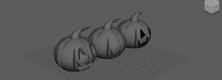 Pumpkin Haloween on CULTZONE GAMES royalty-free 3d model - Preview no. 2