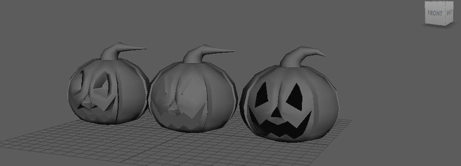 Pumpkin Haloween on CULTZONE GAMES royalty-free 3d model - Preview no. 5