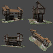 Old Town Gate 3d model