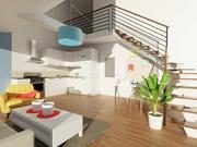 Projektowanie wnętrz apartamentów 3d model
