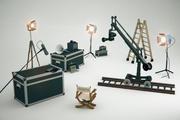卡通电影套装电影工作室包 3d model