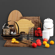 Zestaw kuchenny kuchenny 3d model