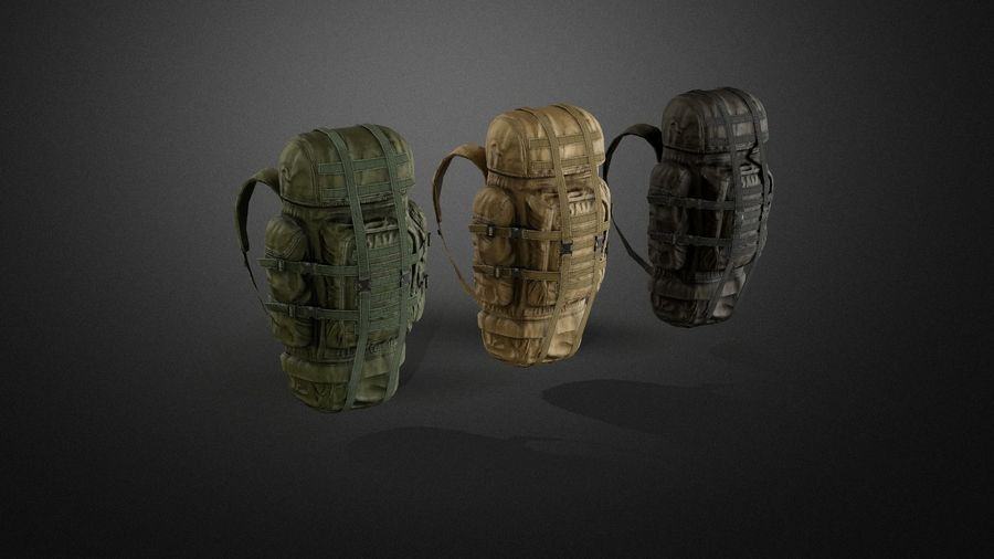 Backpack royalty-free 3d model - Preview no. 8