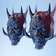 Japanese Oni Mask 3d model