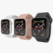 3D Apple Watch 4系列太空灰,金,银 3d model