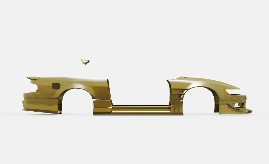 Nissan Silvia S13 Origem Labo Kit Bodu Completo royalty-free 3d model - Preview no. 3