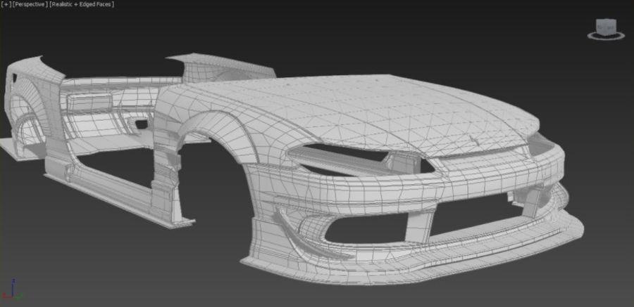 Nissan Silvia S15 Origem Labo Kit completo Bodu 3D royalty-free 3d model - Preview no. 4