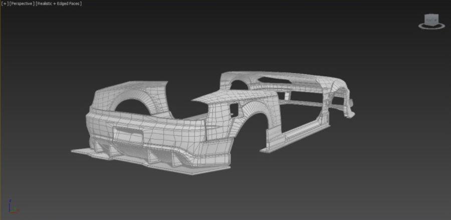 Nissan Silvia S15 Origem Labo Kit completo Bodu 3D royalty-free 3d model - Preview no. 5