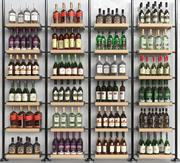 アルコールショーケースワイン3 3d model