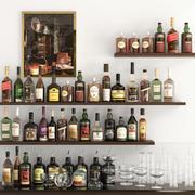 Alcohol Set 10 3d model
