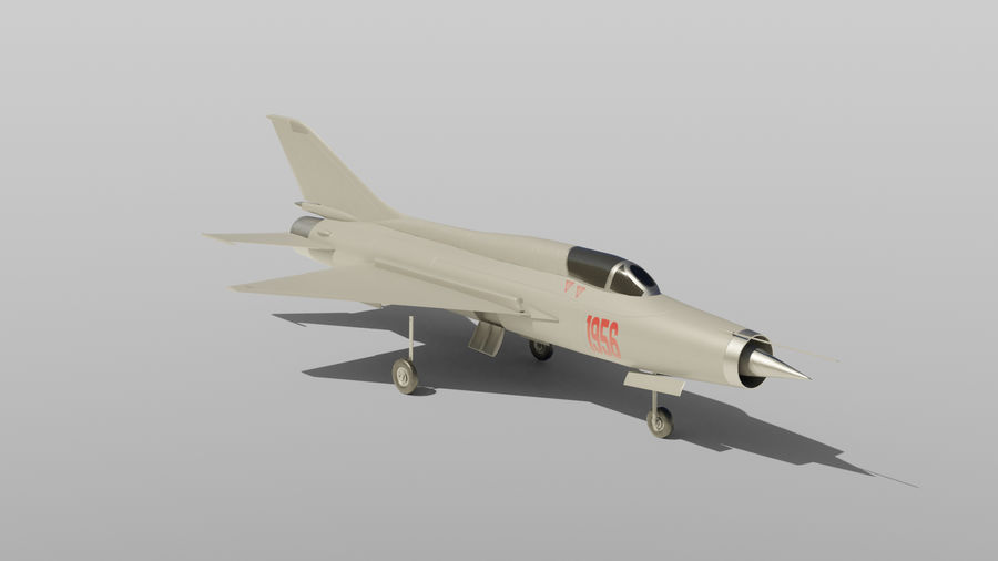 MiG 21 royalty-free 3d model - Preview no. 2