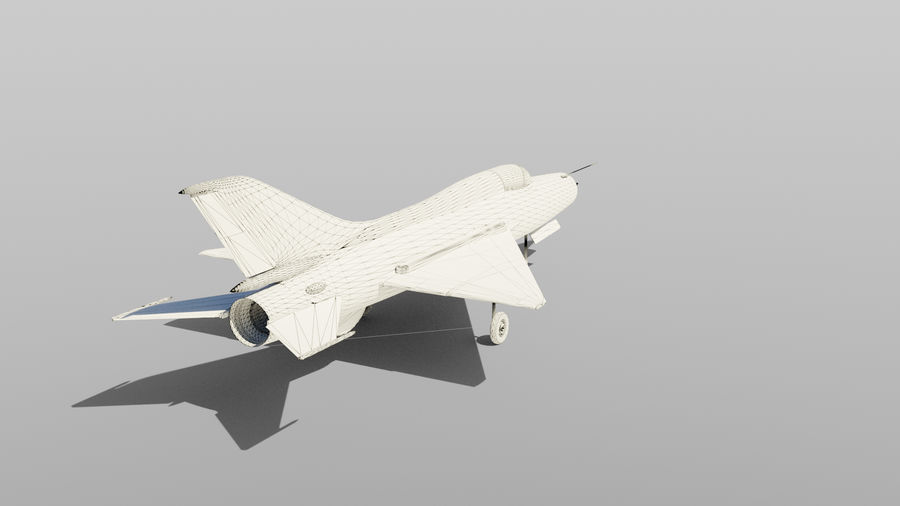 MiG 21 royalty-free 3d model - Preview no. 7