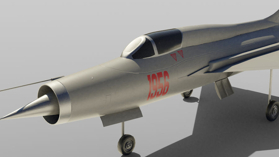 MiG 21 royalty-free 3d model - Preview no. 4