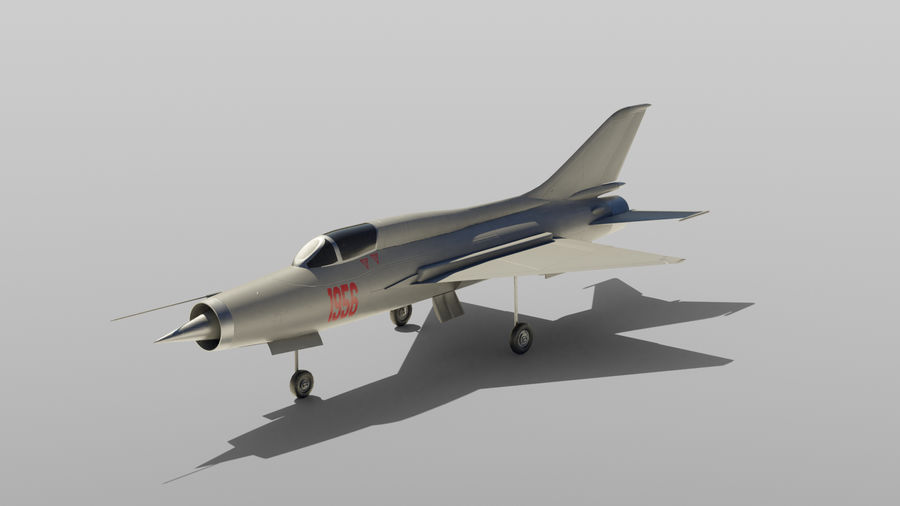 MiG 21 royalty-free 3d model - Preview no. 3