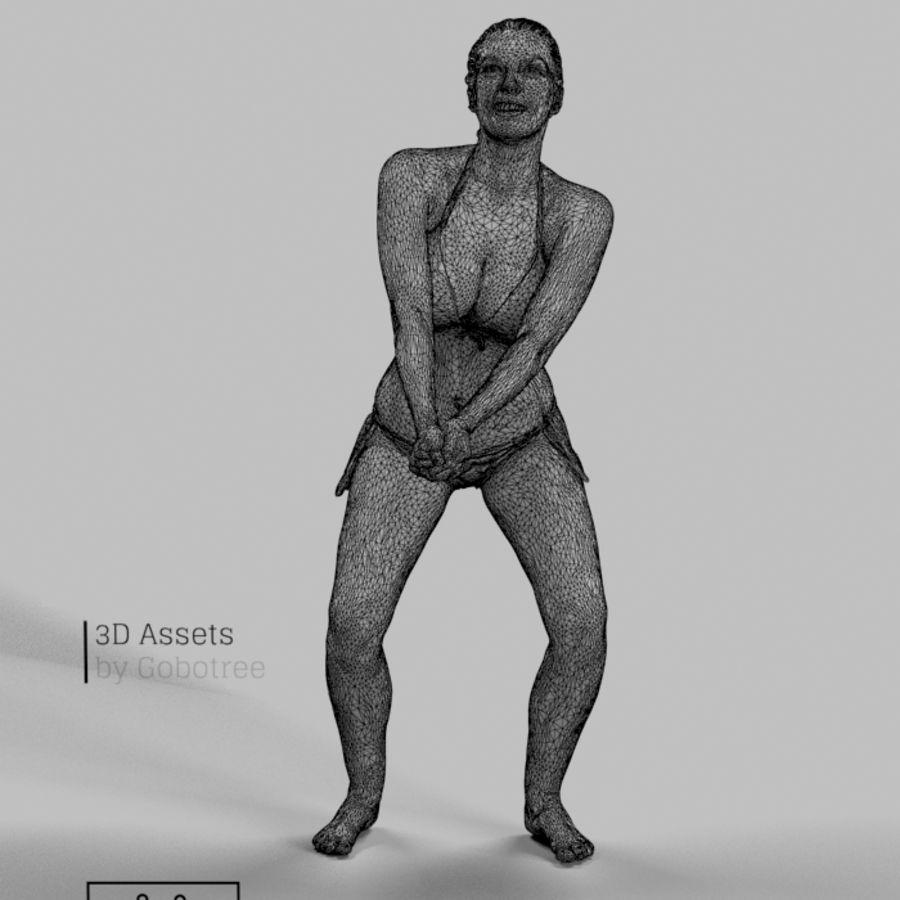 Dominica Pretty Woman giocando a pallavolo Digging the Ball royalty-free 3d model - Preview no. 6