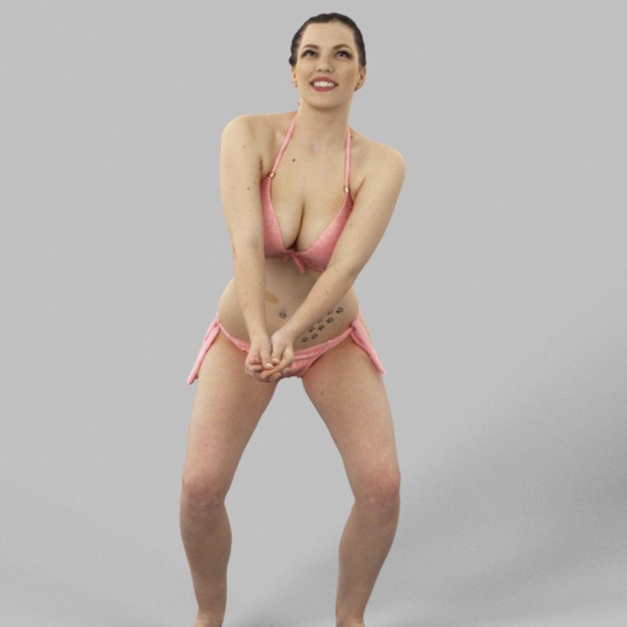 Dominica Pretty Woman giocando a pallavolo Digging the Ball royalty-free 3d model - Preview no. 1