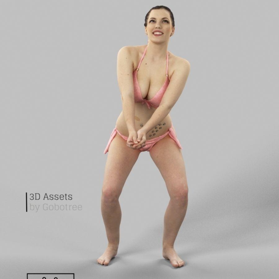 Dominica Pretty Woman giocando a pallavolo Digging the Ball royalty-free 3d model - Preview no. 2