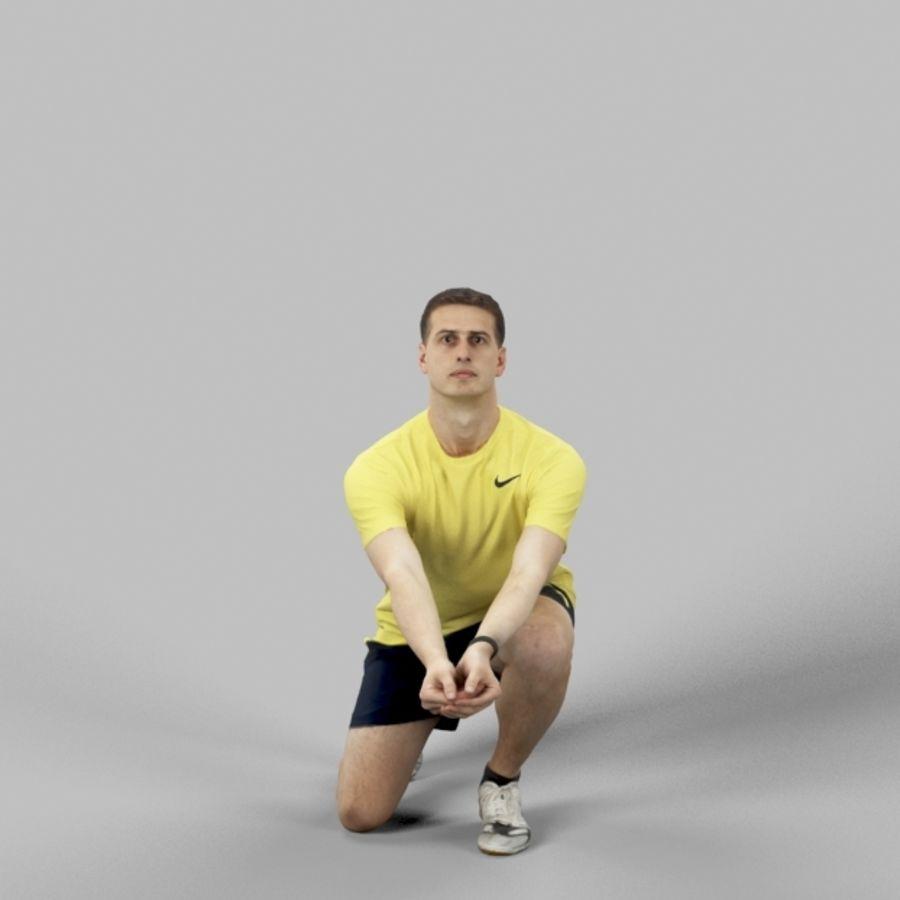 Sports Man Radim giocando a scavare a pallavolo royalty-free 3d model - Preview no. 1