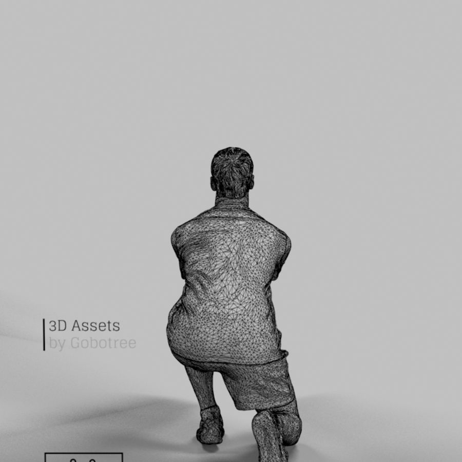 Sports Man Radim giocando a scavare a pallavolo royalty-free 3d model - Preview no. 7