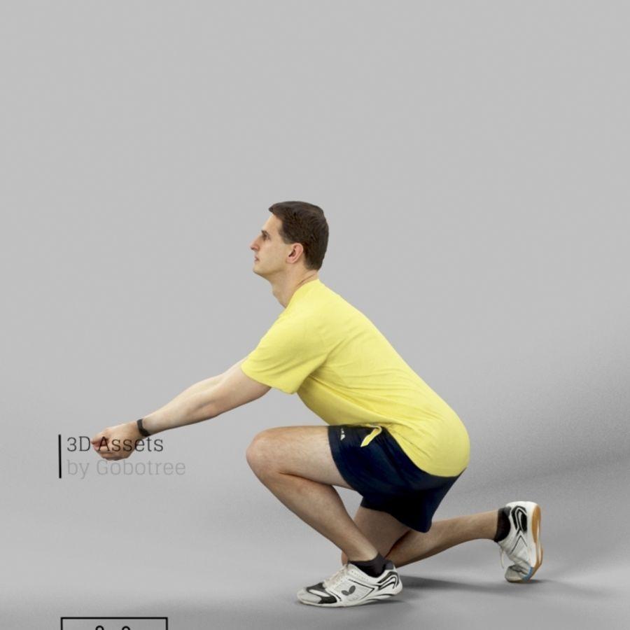 Sports Man Radim giocando a scavare a pallavolo royalty-free 3d model - Preview no. 5