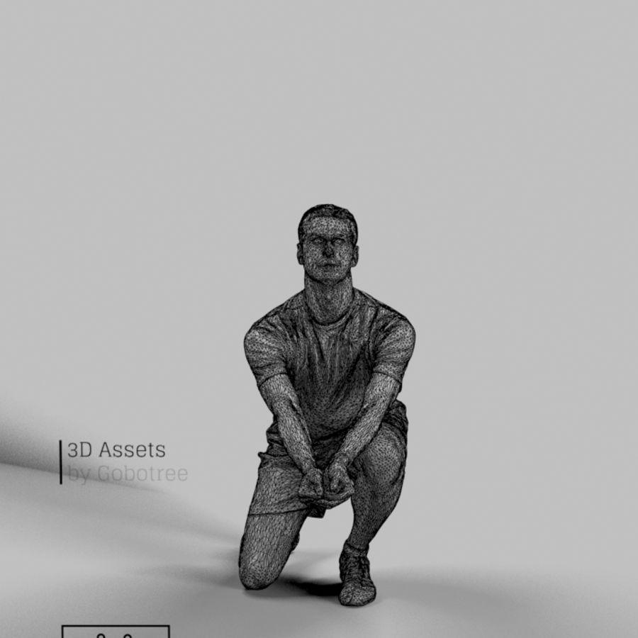 Sports Man Radim giocando a scavare a pallavolo royalty-free 3d model - Preview no. 6
